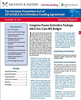 Tax Increase Prevention Act 2014