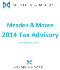 2014 Tax Advisory