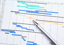 Project management with gantt chart-1